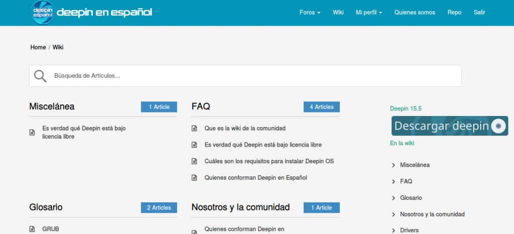 Wiki de Deepin en Español